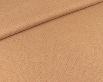 Jacquard jersey Mini Dots beige-Red (21.80 EUR/meter)