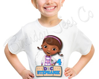 Doc McStuffins Birthday Shirt Add Name & Age Doc McStuffins Custom Birthday Party TShirt