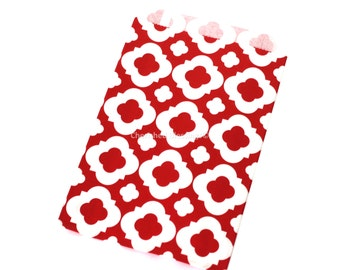 480 Red Favor Bags  Favor Bags Wedding Vintage Style Wedding Favors Quatrefoil Candy Buffet Bags Dessert Bar Baby Shower Bags