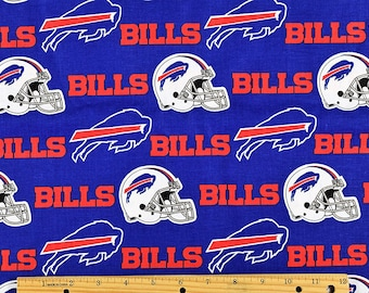 BTY NFL Buffalo Bills Cotton 100% Cotton Broadcloth Football Fabric