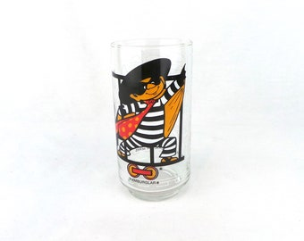 McDonalds 1977 Hamburgler Collector Series Drinking Glass, Collectible Glasses, 70s