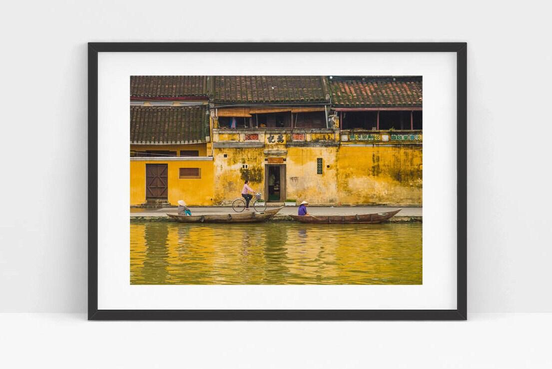 Vietnam Hoi an photography Asian deco Yellow wall print art
