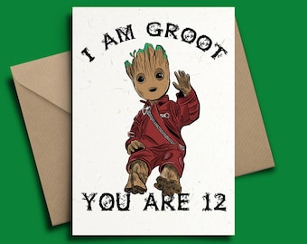 Baby Groot Guardians of the Galaxy 2 Personalised Birthday Card