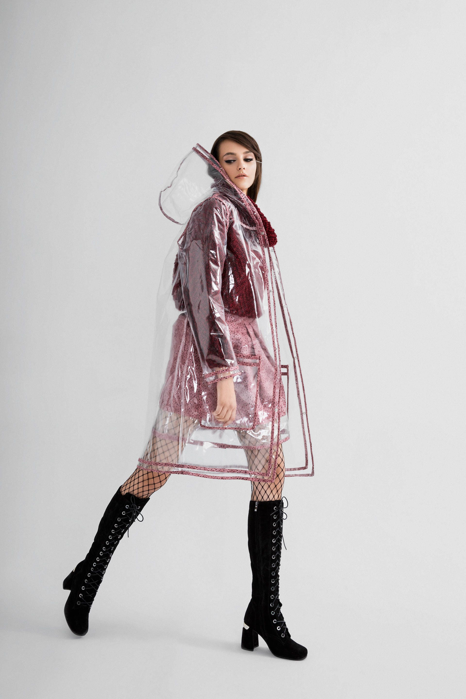 Transparent Pvc Raincoat Clear Raincoat Rain Jacket Hooded