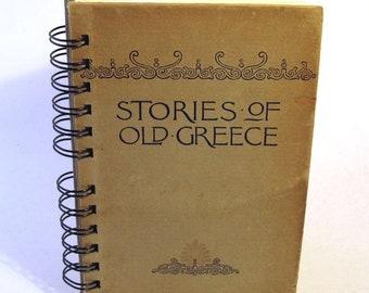 1894 GREEK STORIES Handmade Journal/Vintage Upcycled Book Greek Myths Greek Gods Greece Travel Journal