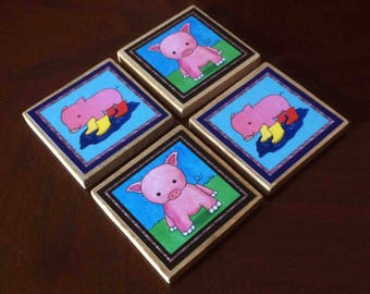Cute Pig Magnets (set of 4)