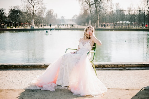 Wedding dress Leticia Dress flower gown flower Bridal train tulle dress Gown bohemian dress Wedding wedding q6vORv