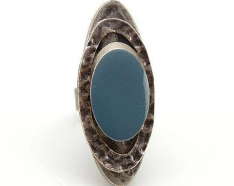 SERENE by KUMKA silver long ring