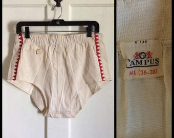 Deadstock Vintage 1950's Campus Surfer Mens Swimsuit NWT NOS size ML 36-38