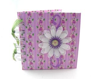 Rose Chintz Gratitude Book, gratitude journal, thank you book, thank you journal, gratitude diary, blessings book - lavender