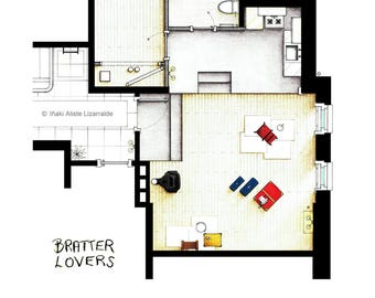 """Almost empty apartment from """"Barefoot in the Park"""""""