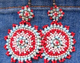 Boho earrings, earrings, hippie Style