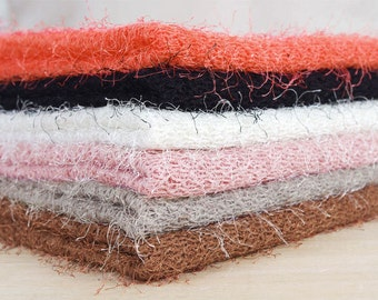 """Polyester Hairy Sweater Knit Fabric - Choose From 6 Colors - 52"""" Wide - By the Yard v100-002"""