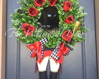 Kentucky Derby Wreath Jockey Wreath Derby Wreath Decorations Run For The Roses Red-Black Jockey
