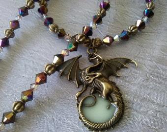 Swarovski Crystal Dragon Necklace
