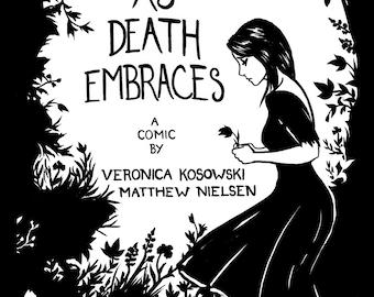 As Death Embraces Original Comic Book Illustrated Art Zine
