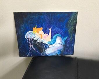 Peter Pan Mermaid Painting