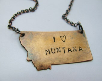 I Heart Montana Copper Necklace