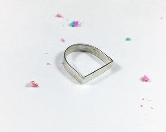 Flat Top Ring // Sterling Silver
