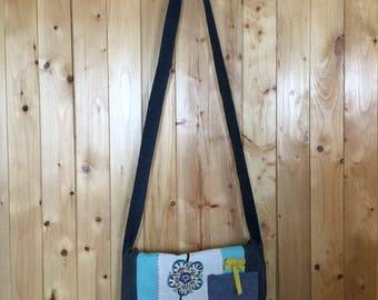 Turquoise shoulder bag
