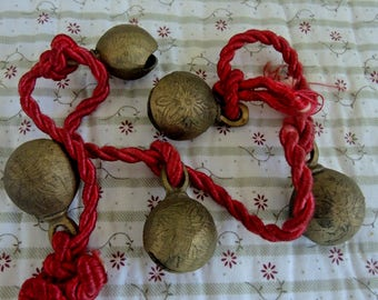 Bells of Sarna, Made In India, 5 Brass Bells,
