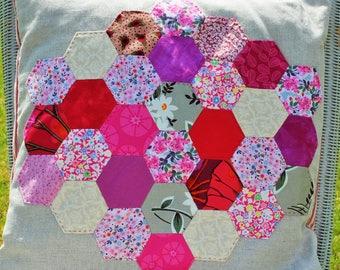 Pink Hexie Cushion