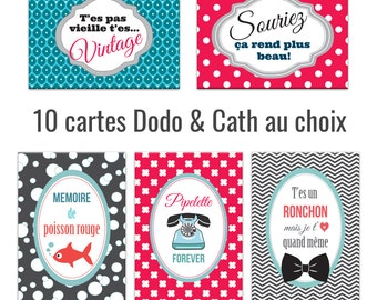 Set of 10 postcards to choose