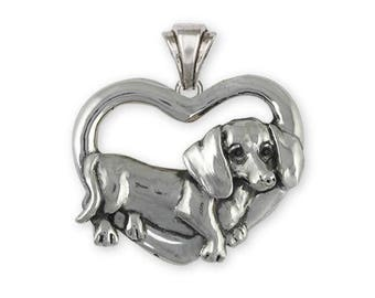 Dachshund Pendant Jewelry Sterling Silver Handmade Dog Pendant DA28-P
