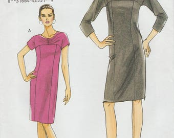 Very Easy Vogue 8529 / Out Of Print Sewing Pattern / OOP / Dress / Sizes 18 20 22 24