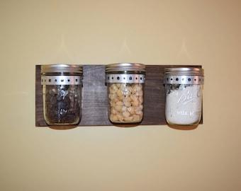 Mason Jar Kitchen Storage