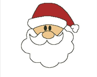 Buy 2 Get 1 Free-Santa Cross Stitch Pattern-Christmas Cross Stitch-Xmas-PDF pattern-Merry Christmas-easy cross stitch-DOWNLOAD-Santa-P-80