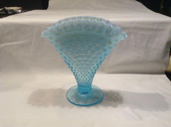 Large Fenton Fan Vase
