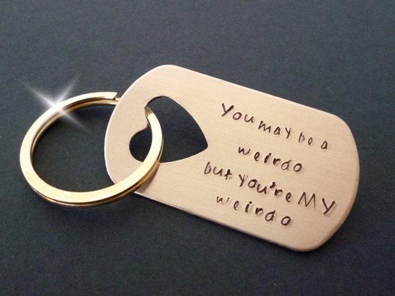My Weirdo Keyring, My Weirdo Keychain, Insult Keyring, Rude Keyring, Comical Keyring, Insults Key Ring, Personalised Keyring Keychain