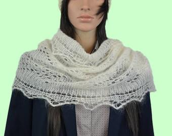 Mohair scarf handmade