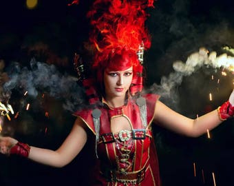 Warhammer 40,000 Fire Mage cosplay costume