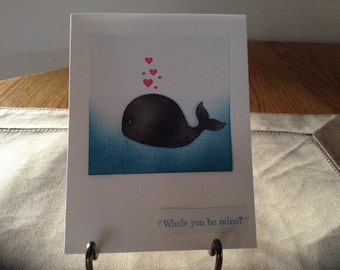 Whale Valentine Card