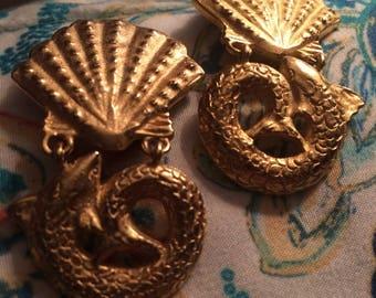 Diane von Furstenberg sea life drop dangly earrings