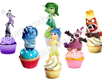 DIGITAL FILE (PRINTABLE) Inside Out for cupcake toppers/cakepops