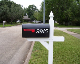 Mailbox number vinyl decal- set of 2, vinyl numbers, number stickers, mailbox decal