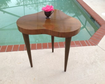 HERMAN MILLER TABLE / Rare Art Deco Cloud Table by Gilbert Rohde for Herman Miller Mid Century Modern Table at Retro Daisy Girl
