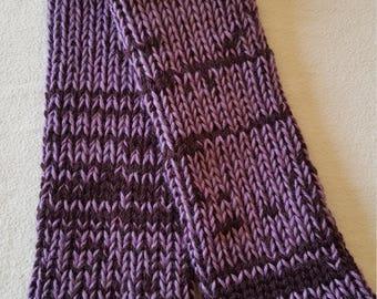 Leggings - Leggings baby / child - shades of plum / Mauve - knitted wool - handmade