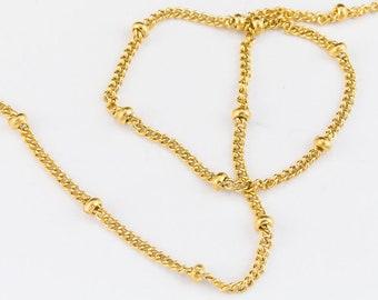 1.7mm 14 Karat Gold Filled Satellite Chain #BGR089