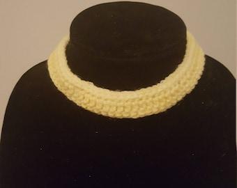 Handmade Crochet Yellow Choker