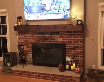 Wood Beam Mantel, Rustic Wood Mantel, Fireplace Mantel, Mantel, Fireplace Beam, Floating Shelf, Primitive Mantel Shelf,