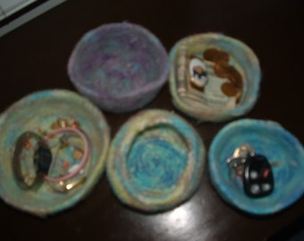 Knitted Felted Bowls