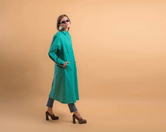 London Fog Trench Coat / Vintage 80s Trench Coat / Oversized Coat / Rain Coat / Light Weight Coat Δ fits sizes: S/M/L