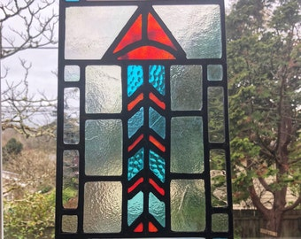 Geometric Stained Glass Lead Panel