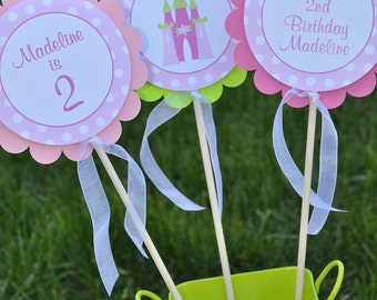 Princess Centerpiece Sticks - Princess Birthday Decorations - Girl Birthday Party Decorations - Princess Centerpieces - Set of 3
