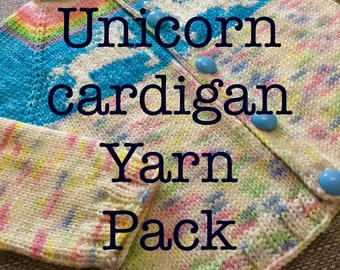 Unicorn cardigan yarn pack, dk yarn pack