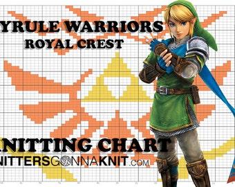 Hyrule Warriors Royal Crest Knitting Chart for Colorwork